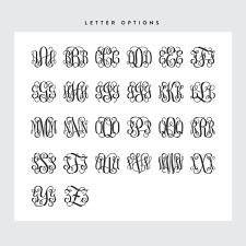 monogram letters vine monogram wood letter sign