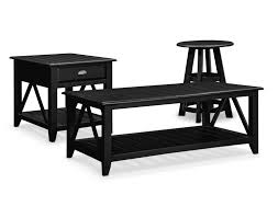 the plantation cove coastal table collection black value city