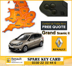 renault scenic 2015 replacement 3 button remote key card for renault grand scenic