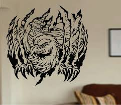 eagle ripping thru wall mural decal sticker vinyl on luulla eagle ripping thru wall mural decal sticker vinyl