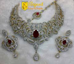 bridal set necklace earring images Elegant artificial jewellery zirconia bridal sets jpg