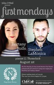 first mondays brittany rolfs and stephen lamonica club cafe