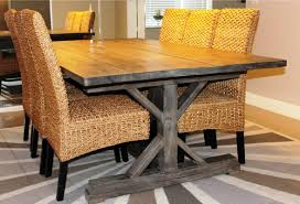 wood trestle dining table find and save ideas about farmhouse