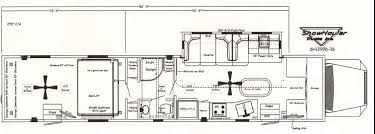 motorhome w garage floor plans showhauler motorhome conversions
