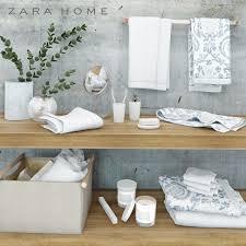 bathroom accessories zara home 3d model cgtrader