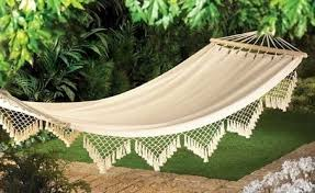 white hammock bed on the hunt