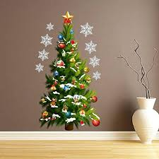 Home Decoration Gifts Merry Home Decor Vinyl Wall Sticker Tree And