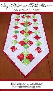 easy christmas table runner craftsy table runners pinterest