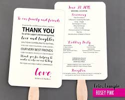 program fans for wedding thank you message wedding program fan warm colors