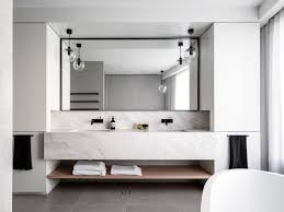 Open Bathroom Design Bathroom Design Idea An Open Shelf Below The Countertop 17