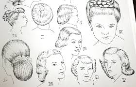 drawings of 1950 boy s hairstyles women s 1940s hairstyles an overview hair and makeup artist
