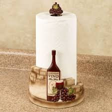vino italiano wine and grapes paper towel holder