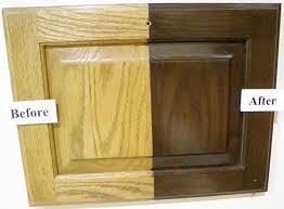 red oak wood harvest gold shaker door refinishing kitchen cabinets