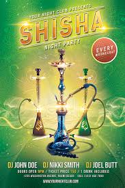 party flyer free shisha party flyer free psd template on behance