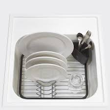 Amazon Com Interdesign Gia Kitchen Sink Protector Wire Grid Mat amazon com umbra sinkin dish drying rack u2013 dish drainer caddy