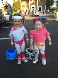 Halloween Costumes Girls Age 2 Cutest 80 U0027s Workout Girls Couple Costume Toddlers Workout
