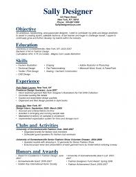 amazing sample resume for fashion designer resume format web
