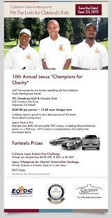 lexus financial careers lexus champions for charity golf tournament september 23 2013 eoydc