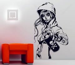 Wwe Wall Stickers Sugar Skull Wall Decals Best Sugar Skull Wall Decal Products On