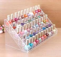 mygift metal heart design 3 tier nail polish rack table top