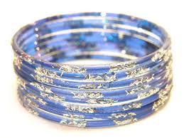 blue bangle bracelet images Silver glitter blue bridal glass bangle s 2 6 jpg