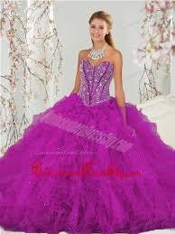 luxurious beading and ruffles fuchsia sweet 16 dresses 248 87
