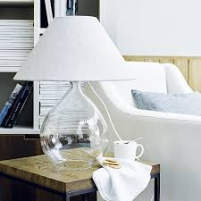 White Table Lamp Table Lamps Bedside Bottle U0026 Glass The White Company Uk