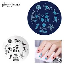 online get cheap sea nail stamping plate aliexpress com alibaba