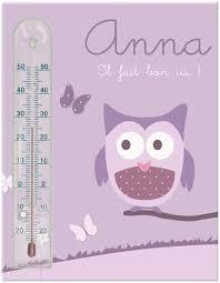 thermomètre chambre bébé thermometre chambre enfant cadre thermomètre chouette et papillons