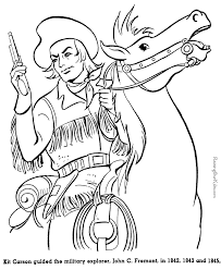 colonial boy coloring page josefina unit study america s southwest frontier