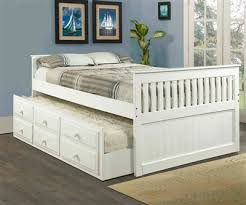 white full size trundle captains bed kids bedroom furniture