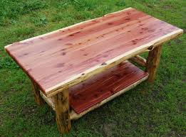 amish made rustic red cedar coffee table available at cabin