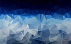 Blue And White Wallpaper by Polygon Art D Texture Wallpaper