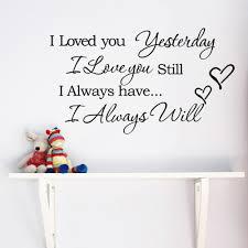 Bedroom Wall Decor Sayings I Love You