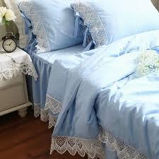 european style romantic bedding set crochet lace duvet cover