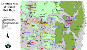 negev desert map eviction of the inhabitants of froush beit dajan poica