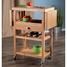 Home Depot Cart by Winsome Wood Barton Bamboo Kitchen Cart With Drop Leaf 80434 The
