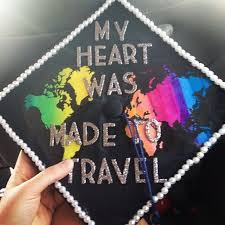 Travel Themed Graduation Caps Ideas Deafinitely Wanderlust