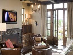 modern fireplace built in seating vaulted ceiling patio doors