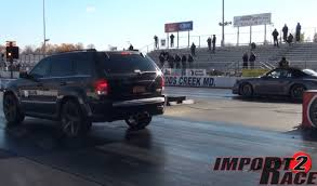turbo jeep srt8 caught sleeping porsche 911 turbo s vs jeep srt8