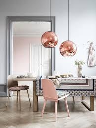 millennial pink scandinavian dining room millennial pink