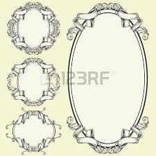 ribbon frame and border ornaments royalty free cliparts vectors
