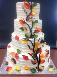 tiered wedding cake with fondant leaves dolce u0026 biscotti
