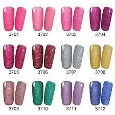 amazon com elite99 soak off uv led gel polish bling neon color