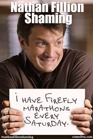Nathan Meme - nathan fillion shaming comediva