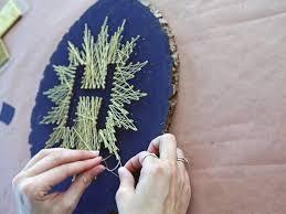 make your own monogrammed string art hgtv