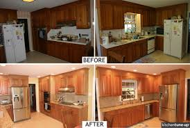 Classic Cherry Kitchen Cabinets Recycled Countertops Natural Cherry Kitchen Cabinets Lighting