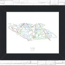 Vail Map Minimalist Ski Snowboar Maps For The Modern By Modernmaps On Etsy