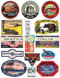 travel stickers images 15 large usa travel stickers retro digital printable jpg