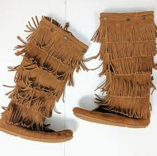 s boots with fringe 55 minnetonka shoes minnetonka 5 layer fringe boots nwot